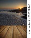 landscape image of rocky beach...   Shutterstock . vector #258958160