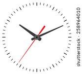 wall mounted digital clock. | Shutterstock .eps vector #258964010