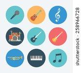 musical equipment icon set....   Shutterstock .eps vector #258966728
