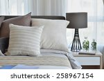 stylish bedroom interior design ... | Shutterstock . vector #258967154