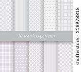 10 gray  vector seamless... | Shutterstock .eps vector #258978818