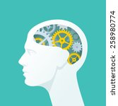 human head with gears. head... | Shutterstock .eps vector #258980774