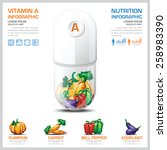 vitamin a chart diagram health... | Shutterstock .eps vector #258983390