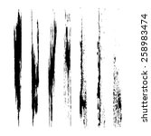 vector set of grunge brush... | Shutterstock .eps vector #258983474