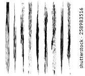 vector set of grunge brush... | Shutterstock .eps vector #258983516