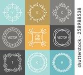 vector set of trendy logo... | Shutterstock .eps vector #258988538