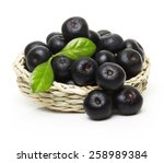 berries in bowl isolated on... | Shutterstock . vector #258989384