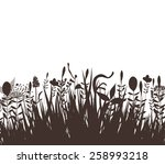 florals vector silhouette black   Shutterstock .eps vector #258993218