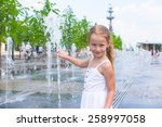 little girl have fun in outdoor ... | Shutterstock . vector #258997058