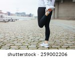 low section view of fit young... | Shutterstock . vector #259002206