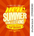 new summer collections... | Shutterstock .eps vector #259008080