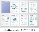 big collection of infographic...   Shutterstock .eps vector #259010129