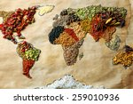 Map Of World Made From...