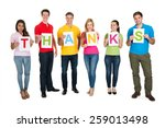 multiethnic group of people... | Shutterstock . vector #259013498