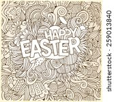 easter hand lettering and... | Shutterstock .eps vector #259013840