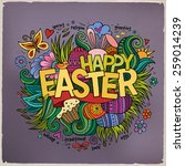 easter hand lettering and... | Shutterstock .eps vector #259014239