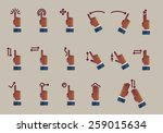 gesture icons for touch devices | Shutterstock .eps vector #259015634