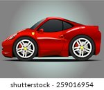 vector modern cartoon car ... | Shutterstock .eps vector #259016954