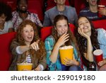 young friends watching a film... | Shutterstock . vector #259019180