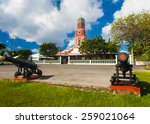 Famous Red Clock Tower On The...