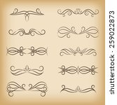 swirl elements for design.... | Shutterstock .eps vector #259022873