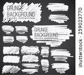 grunge marker stains | Shutterstock .eps vector #259023770