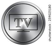 tv icon. internet button on...   Shutterstock .eps vector #259025180