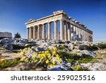 Parthenon Temple With Spring...