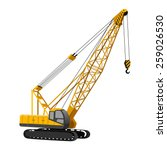 lifting crane | Shutterstock .eps vector #259026530