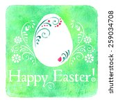 cute easter greeting card hand... | Shutterstock .eps vector #259034708