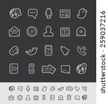 social communications icons   ... | Shutterstock .eps vector #259037216