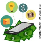 mobile with money.technology... | Shutterstock .eps vector #259038113