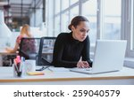 image of woman using laptop... | Shutterstock . vector #259040579