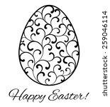 card happy easter  easter egg... | Shutterstock .eps vector #259046114