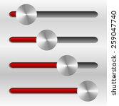 sliders with metallic knobs
