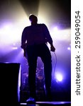 Small photo of BARCELONA - OCT 20: Future Islands (synthpop electronic dance band) performs at Razzmatazz stage on October 20, 2014 in Barcelona, Spain.