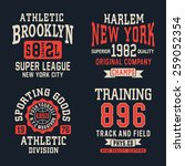 athletic sport typography  t... | Shutterstock .eps vector #259052354