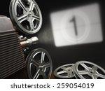 cinema  movie or video concept. ... | Shutterstock . vector #259054019
