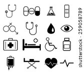medical icons set illustration... | Shutterstock .eps vector #259058789