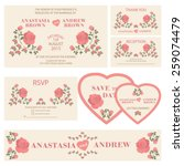 wedding invitation.wedding set. ... | Shutterstock .eps vector #259074479