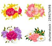 flower set | Shutterstock . vector #259076498