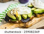 Healthy Sandwich With Avocado...