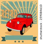 vector illustration of retro... | Shutterstock .eps vector #259084610