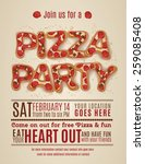 vector pizza party flyer... | Shutterstock .eps vector #259085408