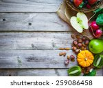 Fruits And Vegetables On Rusti...