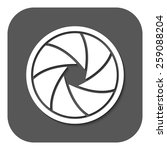 the diaphragm icon. aperture... | Shutterstock .eps vector #259088204