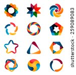 logo templates set. abstract... | Shutterstock .eps vector #259089083