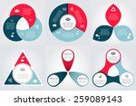vector circle elements for... | Shutterstock .eps vector #259089143