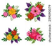 flower set | Shutterstock . vector #259090079