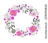 floral wreath for greeting... | Shutterstock .eps vector #259090820